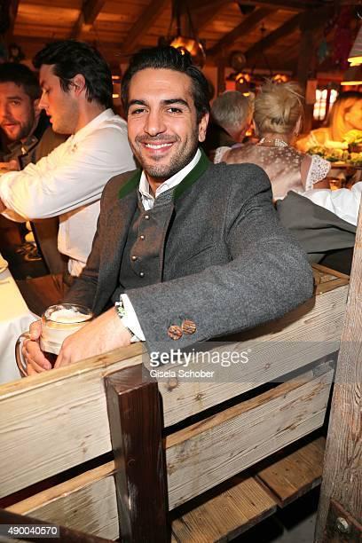 Elyas M'Barek during the Oktoberfest 2015 at Kaeferschaenke at Theresienwiese on September 25 2015 in Munich Germany