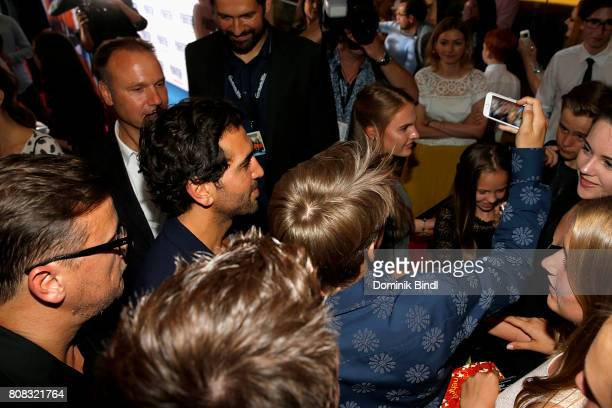 Elyas MBarek during the premiere of ''Das Pubertier'' at Mathaeser Filmpalast on July 4 2017 in Munich Germany