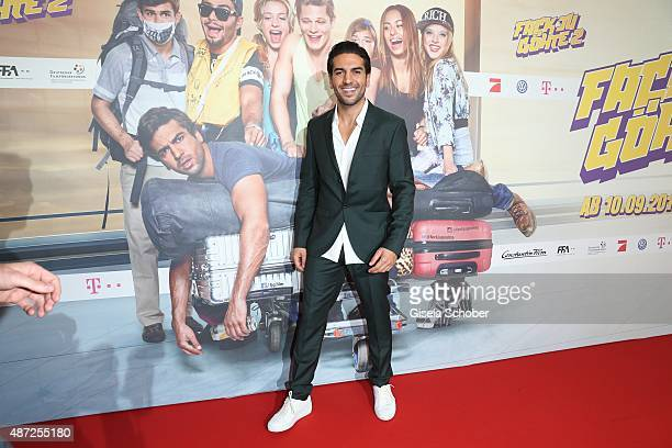 Elyas M'Barek during the world premiere of 'Fack ju Goehte 2' at Mathaeser Kino on September 7 2015 in Munich Germany