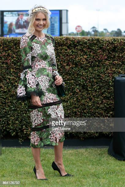 Elyse Knowles attends Caulfield Cup Day at Caulfield Racecourse on October 21 2017 in Melbourne Australia