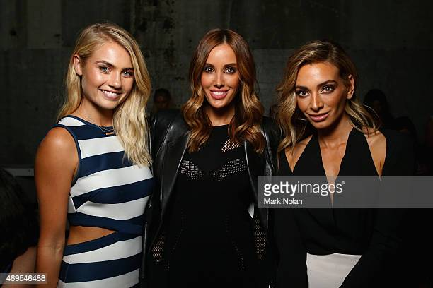 Elyse Knowles Bec Judd and Nadia Bartel attend the By Johnny show at MercedesBenz Fashion Week Australia 2015 at Carriageworks on April 13 2015 in...