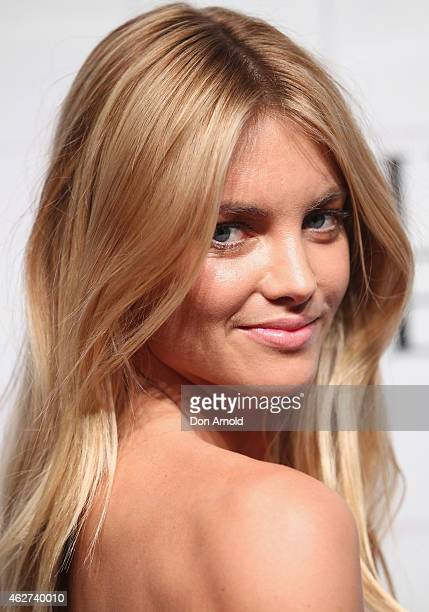 Elyse Taylor arrives at the David Jones Autumn/Winter 2015 Collection Launch at David Jones Elizabeth Street Store on February 4 2015 in Sydney...
