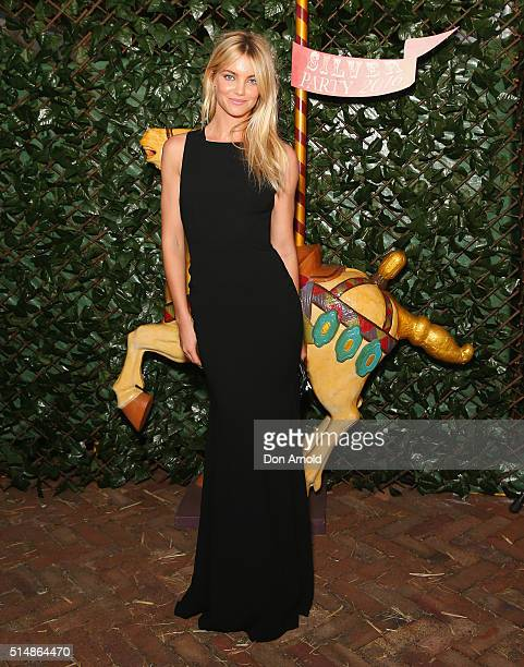 Elyse Taylor arrives at the Sydney Children's Hospital's 2016 Silver Party at Iona on March 11 2016 in Sydney Australia
