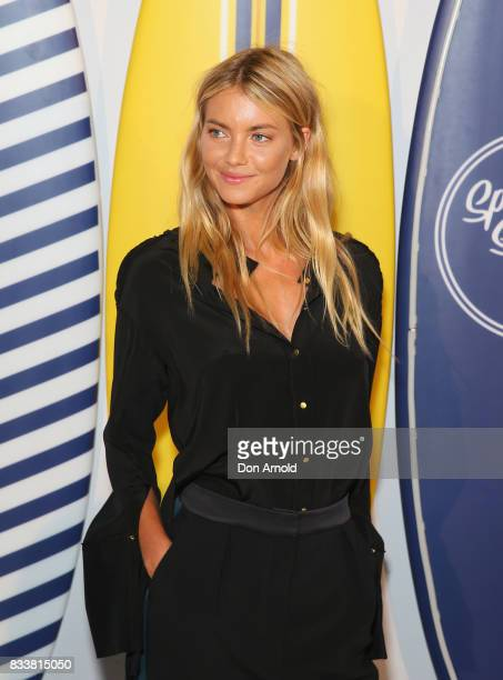 Elyse Taylor attends the Myer 'Spring Social' Night Event at Bronte Surf Life Club on August 17 2017 in Sydney Australia