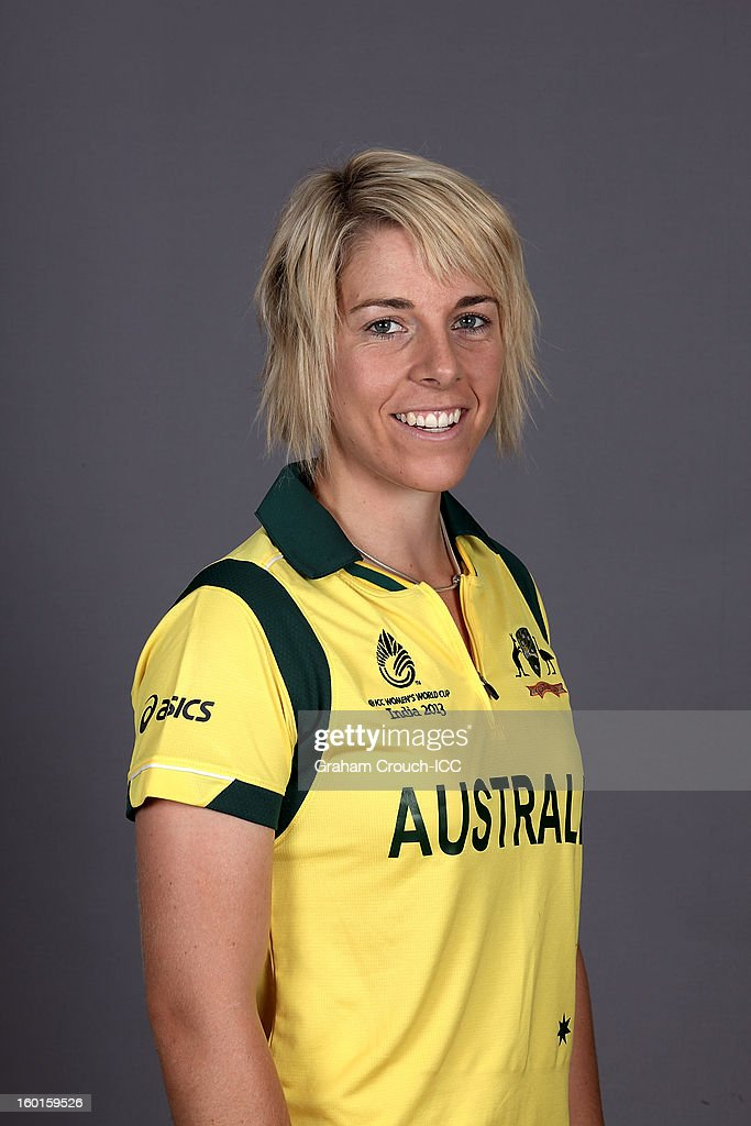 Elyse Villani of Australia attends a portrait session ahead of the ICC Womens World Cup 2013 at the Taj Mahal Palace Hotel on January 27, 2013 in Mumbai, India.