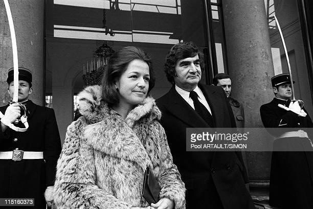 Elysee Caroline and JohnJohn Kennedy at the Elysees Palace in Paris France on March 21 1975 Pierre Salinger