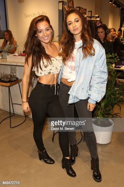 Em Furey and Danielle Peazer attend the No1 Carnaby by Sweaty Betty flagship launch party on September 6 2017 in London England