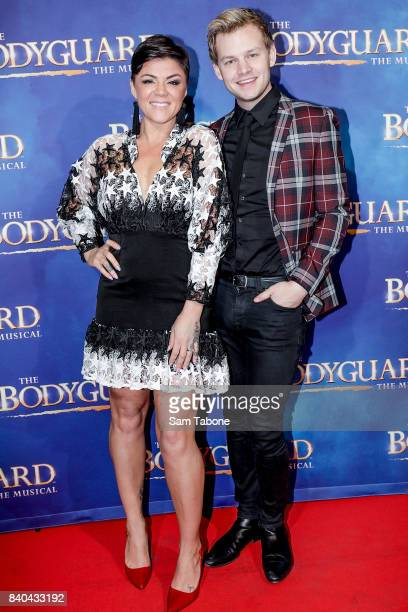 Em Rusciano and Joel Creasy during a production media call for The Bodyguard at Regent Theatre on August 29 2017 in Melbourne Australia