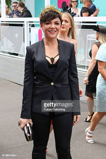 Em Rusciano arrives at the Melbourne Cup Carnival for Emirates Melbourne Cup Day on November 01 2016 in Melbourne Australia Chris Putnam / Barcroft...
