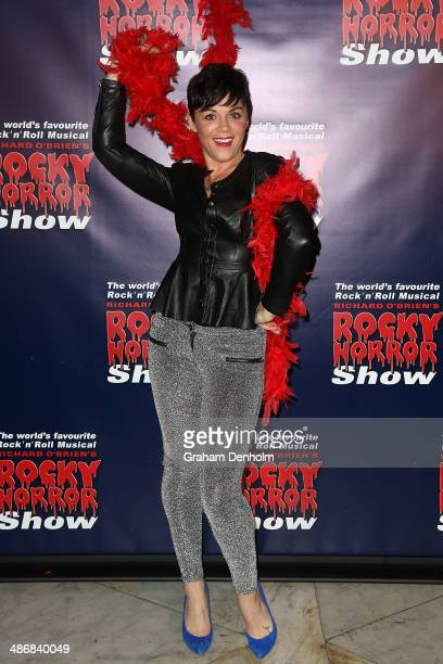Em Rusciano attends the Melbourne premiere of the Rocky Horror Musical on April 26 2014 in Melbourne Australia