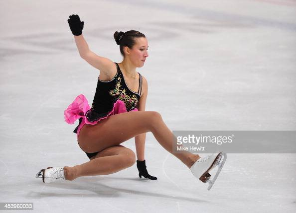 Ema Lipovscak of Croatia stumbles in the Ladies Short Program during Day Two of the ISU 46th Golden Spin of Zagreb at the Dom Sportova on December 6...
