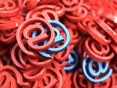 E-mail red and blue symbols