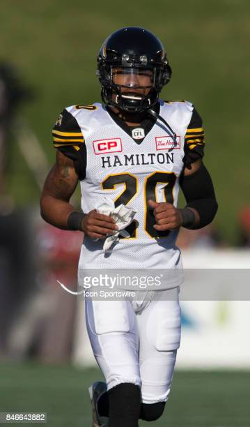 Emanuel Davis of the Hamilton TigerCats in Canadian Football League Action at TD Place Stadium in Ottawa Canada on Saturday September 9 2017 The...