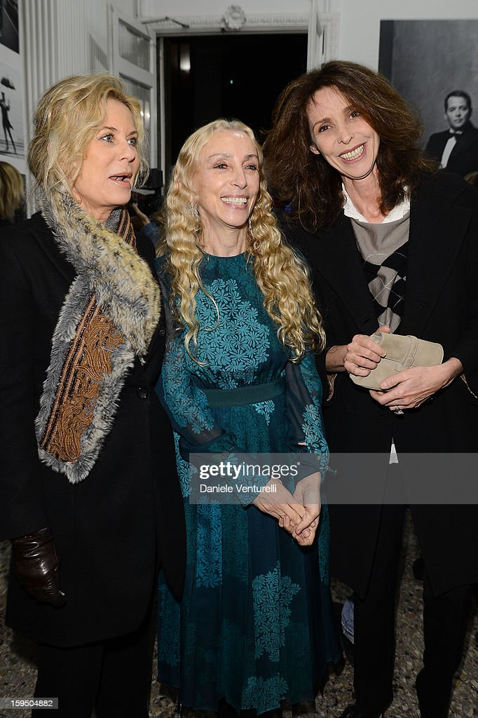 Emanuel de Benedetti, Franca Sozzani and guest attend the 'So Chic So Stylish' cocktail party as part of Milan Fashion Week Menswear Autumn/Winter 2013 on January 14, 2013 in Milan, Italy.