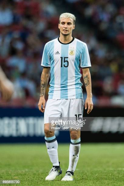 Emanuel Mammana of Argentina during the International Test match between Argentina and Singapore at National Stadium on June 13 2017 in Singapore
