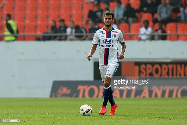 Emanuel Mammana of Lyon during the Ligue 1 match between FC Lorient and Olympique Lyonnais at Stade du Moustoir on September 24 2016 in Lorient France