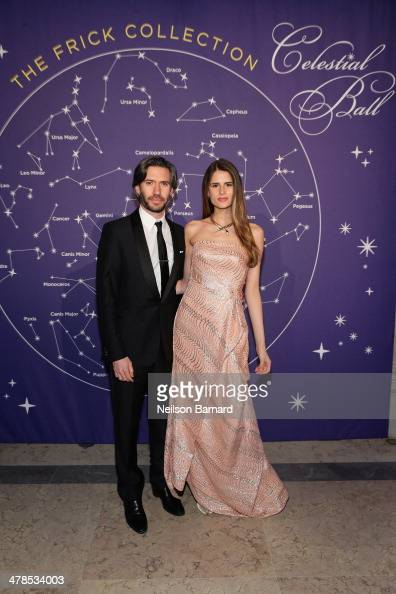 Emanuel Michael and Sandrina Bencomo attend the Young Fellows Celestial Ball presented by PAULE KA at The Frick Collection on March 13 2014 in New...