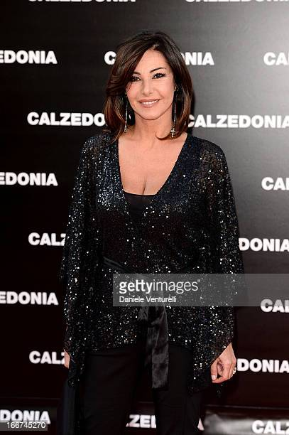 Emanuela Folliero arrives at the Calzedonia 'Forever Together' show on April 16 2013 in Rimini Italy