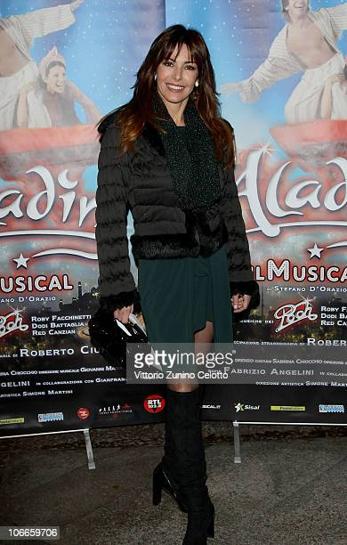 Emanuela Folliero attends the 'Aladin' The Musical Red Carpet held at Teatro Nuovo on November 9 2010 in Milan Italy