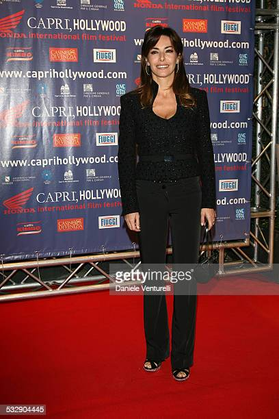 Emanuela Folliero attends the Capri Hollywood Film Festival Milan Dinner Party at Old Fashion Cafe on October 13 2008 in Milan Italy
