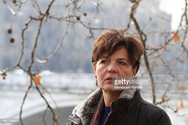 Emanuela Orlandi's sister Natalina Orlandi during a photo shooting by the Lungotevere dei Mellini where Emanuela was seen for the last time Rome...