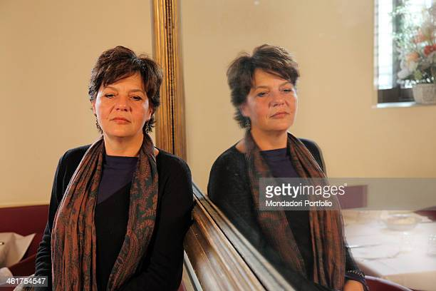 Emanuela Orlandi's sister Natalina Orlandi during a photo shooting in a café nearby the Lungotevere dei Mellini where Emanuela was seen for the last...