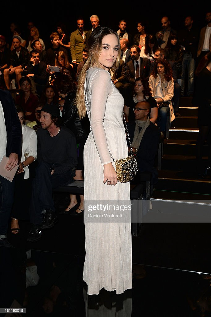 Emanuela Postacchini attends Anteprima Event during the Milan Fashion Week Womenswear Spring/Summer 2014 on September 19, 2013 in Milan, Italy.