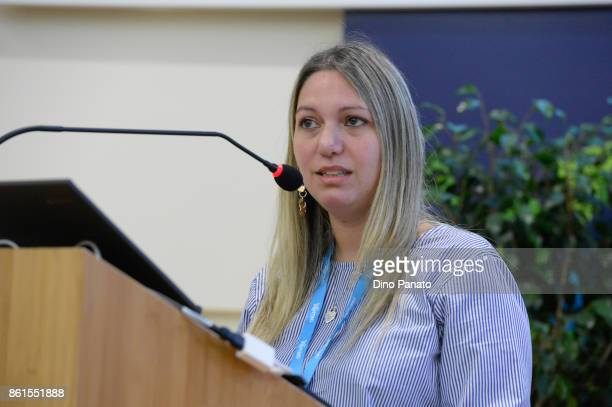 Emanuela Zaccone attends the second day of the Hackathon Event at the University of Letters on October 15 2017 in Trento Italy