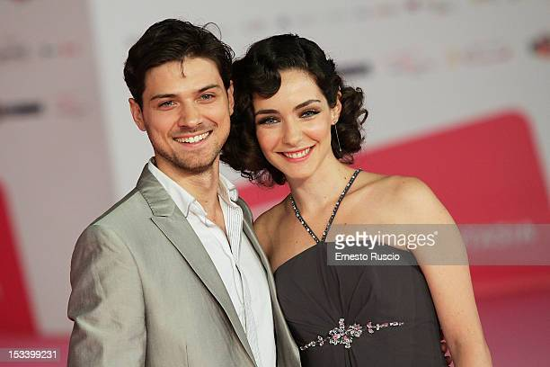 Emanuele Bosi and Valentina Corti attend the 'Trilussa Storia d'Amore e di Poesia' photocall during the RomaFictionFest 2012 at Auditorium Parco...