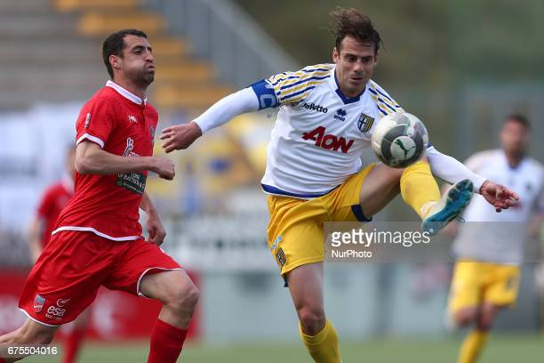 Emanuele Calai of Parma controll the ball during Lega Pro round B match between Teramo Calcio 1913 and Parma Calcio at Stadium Gaetano Bonolis on 30...