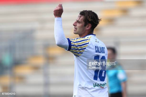 Emanuele Calai of Parma reacts during Lega Pro round B match between Teramo Calcio 1913 and Parma Calcio at Stadium Gaetano Bonolis on 30 April 2017...