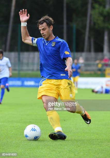 Emanuele Calaio of Parma Calcio in action during the preseason friendly match between Parma Calcio and Dro on July 30 2017 in Pinzolo near Trento...