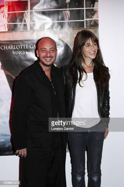 Emanuele Crialese and Charlotte Gainsbourg during 'Golden Door' Paris Premiere Arrivals at Espace Pierre Cardin of Paris in Paris France