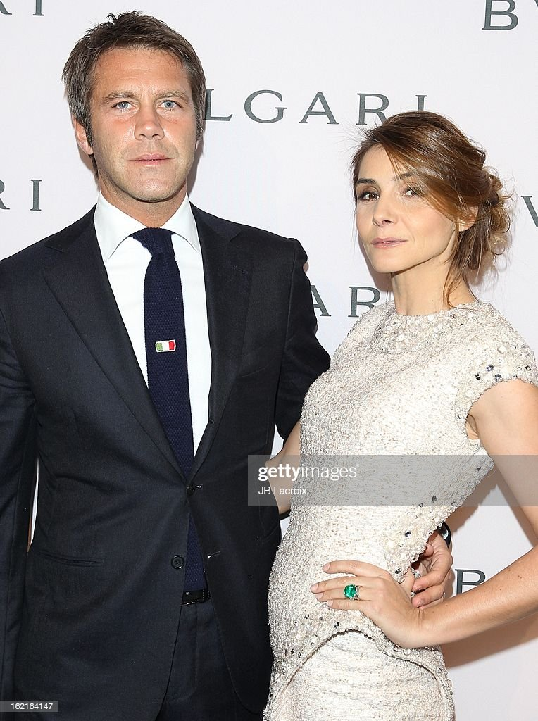 Emanuele di Savoia and <a gi-track='captionPersonalityLinkClicked' href=/galleries/search?phrase=Clotilde+Courau&family=editorial&specificpeople=171279 ng-click='$event.stopPropagation()'>Clotilde Courau</a> attend the BVLGARI celebration of Elizabeth Taylor's collection of BVLGARI jewelry at Bvlgari Beverly Hills on February 19, 2013 in Beverly Hills, California.
