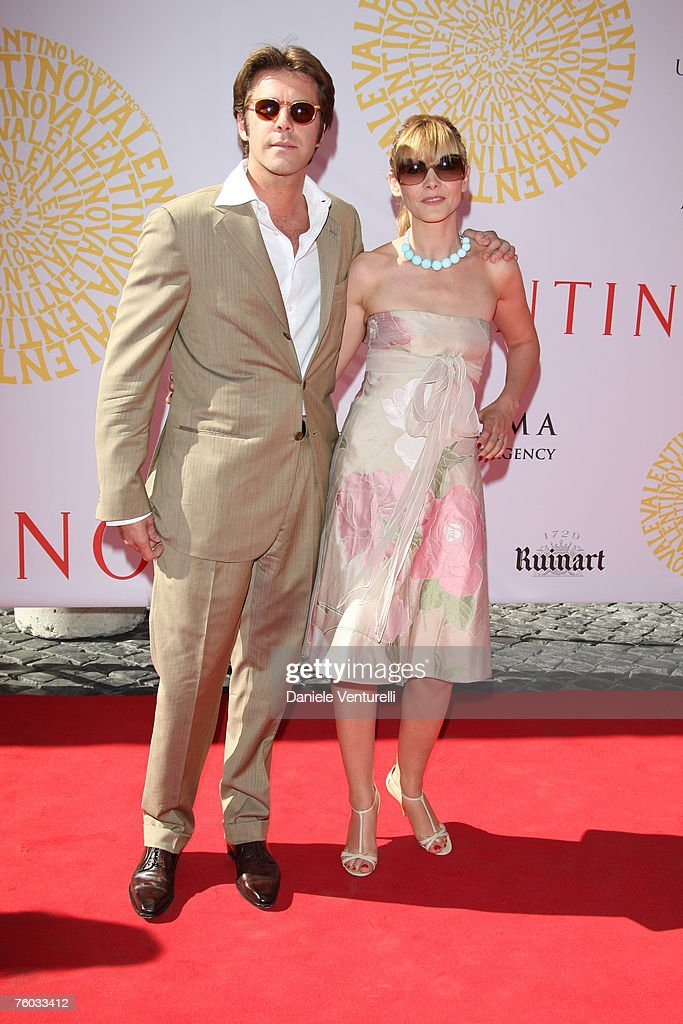Emanuele Filiberto di Savoia and Clotilde Courau during the Valentino 45th anniversary July 7, 2007 in Rome, Italy.