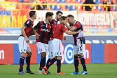 Emanuele Giaccherini of Bologna FC celebratres after scoring the opening goal during the Serie A match between Bologna FC and Atalanta BC at Stadio...