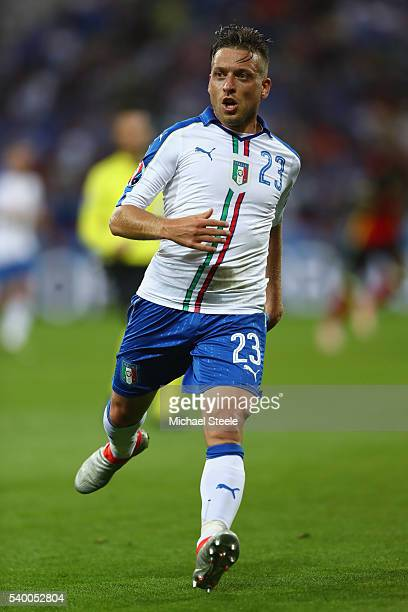 Emanuele Giaccherini of Italy during the UEFA EURO 2016 Group E match between Belgium and Italy at Stade des Lumiere on June 13 2016 in Lyon France