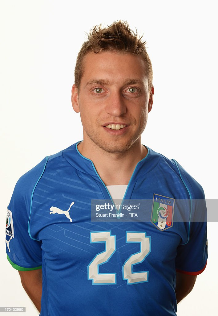 <a gi-track='captionPersonalityLinkClicked' href=/galleries/search?phrase=Emanuele+Giaccherini&family=editorial&specificpeople=6675873 ng-click='$event.stopPropagation()'>Emanuele Giaccherini</a> of Italy poses during a portrait session ahead of the 2013 FIFA Confederations Cup at the Sheraton Barra Hotel on June 12, 2013 in Rio de Janeiro, Brazil.