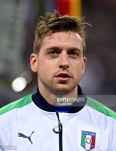 Emanuele Giaccherini of Italy poses prior to the international friendly match between Germany and Italy at Allianz Arena on March 29 2016 in Munich...