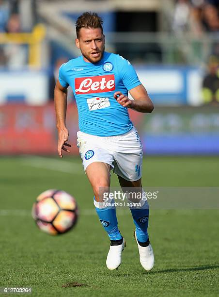 Emanuele Giaccherini of Napoli during the Serie A match between Atalanta BC and SSC Napoli at Stadio Atleti Azzurri d'Italia on October 2 2016 in...