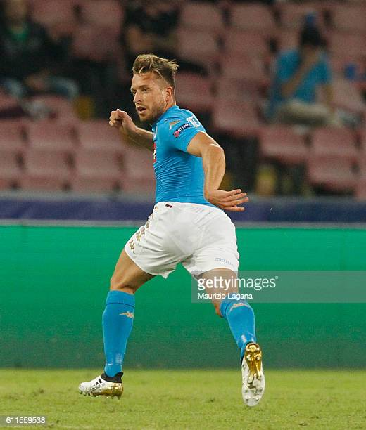 Emanuele Giaccherini of Napoli during the UEFA Champions League match between SSC Napoli and Benfica at Stadio San Paolo on September 28 2016 in...