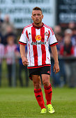 Emanuele Giaccherini of Sunderland in action during a pre season friendly between Darlington and Sunderland at Heritage Park on July 9 2015 in Bishop...
