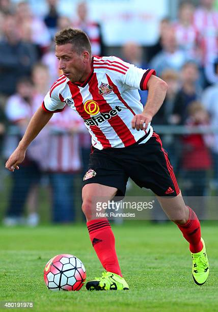 Emanuele Giaccherini of Sunderland in action during a pre season friendly between Darlington and Sunderland at Heritage Park on July 9 2015 in Bishop...