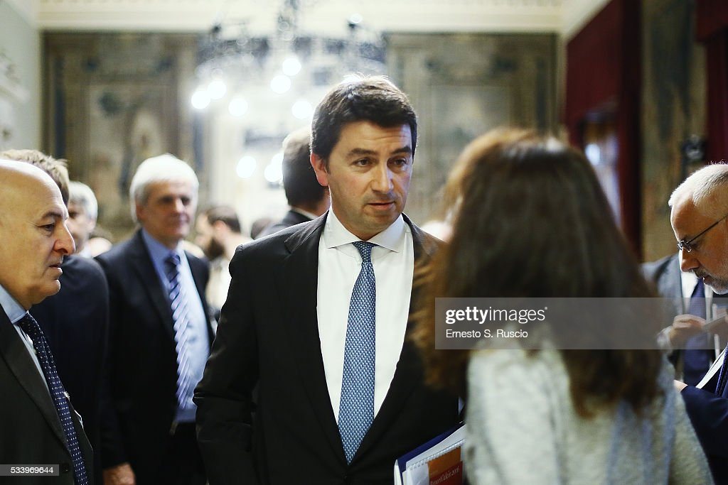 Emanuele Grasso attends the Italian Football Federation Annual Report at Palazzo Montecitorio on May 24, 2016 in Rome, Italy.