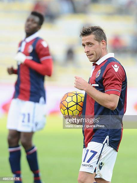 Emanuele Guaccherini of Bologna FC looks on during the Serie A match between Bologna FC and Atalanta BC at Stadio Renato Dall'Ara on November 1 2015...
