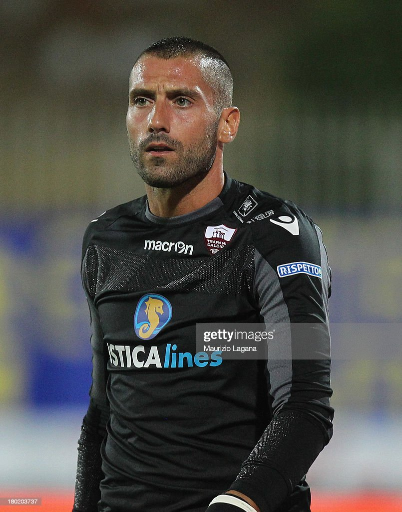 Emanuele Nordi of Trapani during the Serie B match between Trapani Calcio and Pescara Calcio at Stadio Provinciale on September 2, 2013 in Trapani, Italy.