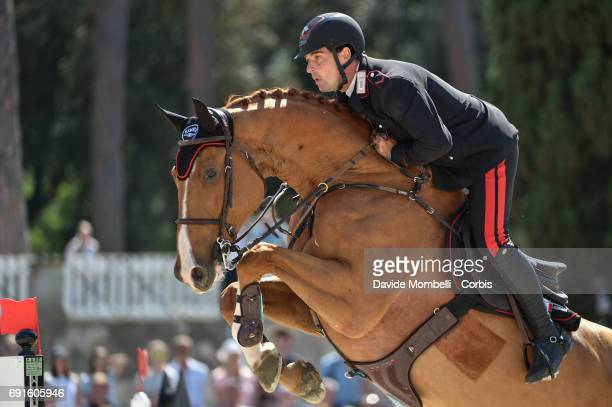 Emanuele of Italy riding CHALOU during the Piazza di Siena Bank Intesa Sanpaolo in the Villa Borghese on May 27 2017 in Rome Italy