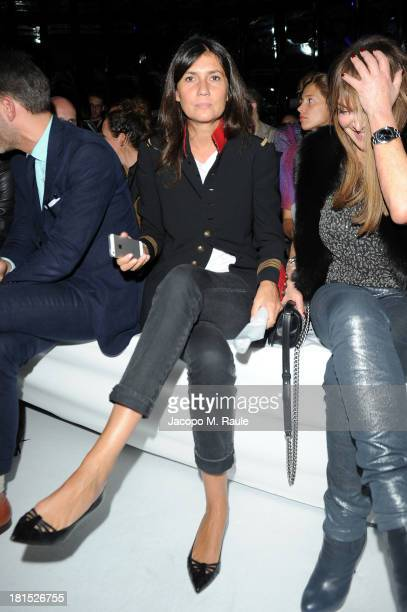 Emanuelle Alt attends Philipp Plein Event as part of Milan Fashion Week Womenswear Spring/Summer 2014 at Piazza Vetra on September 21 2013 in Milan...