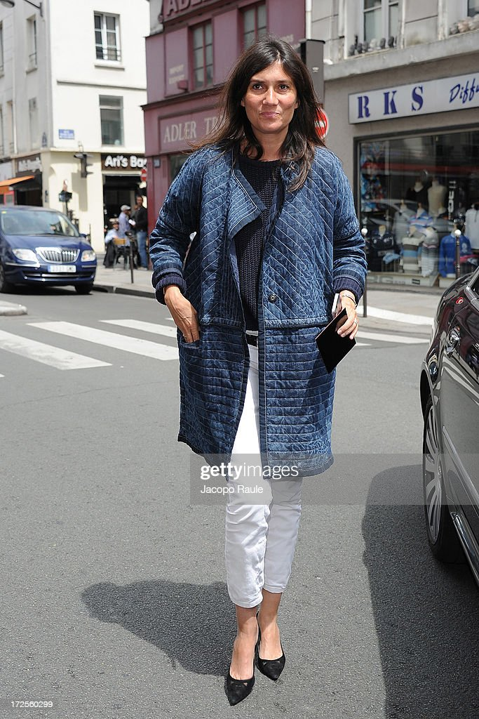 Emanuelle Alt attends the Valentino show as part of Paris Fashion Week Haute-Couture Fall/Winter 2013-2014 at Hotel Salomon de Rothschild on July 3, 2013 in Paris, France.