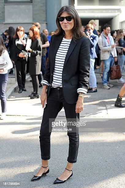 Emanuelle Alt is seen arriving at Emporio Armani during Milan Fashion Week Womenswear Spring/Summer 2014 on September 20 2013 in Milan Italy